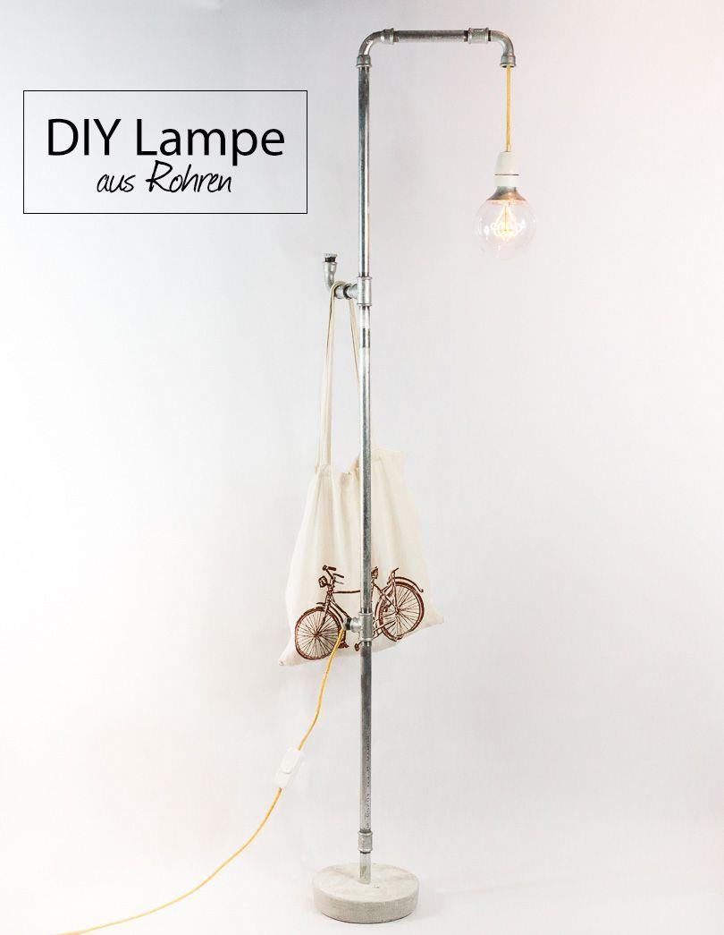 Beeindruckend Stehlampe Industrial Dekoration Von Aus Wasserrohren Selber Bauen - Anleitung. Diy