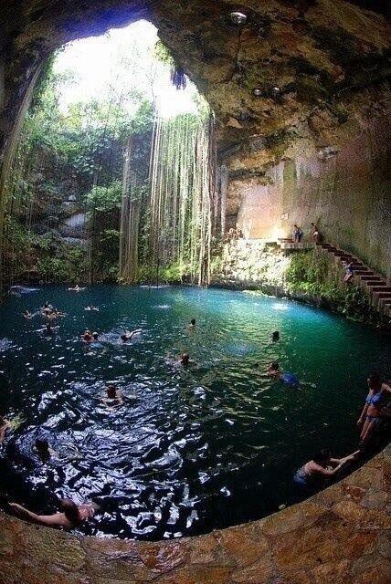 Mexico Underground Cave Pool