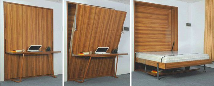 Murphy Bed With Desk This Is A Great Solution For The