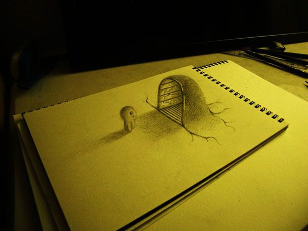 Gallery For Cool 3d Drawings Step By Step Pencil Drawings 3d Drawings 3d Pencil Drawings