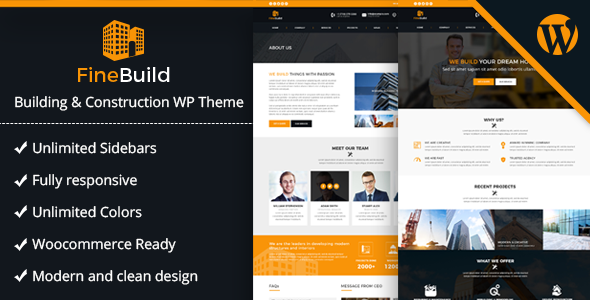 Fine Build - Building & Construction WordPress Theme | Business and ...