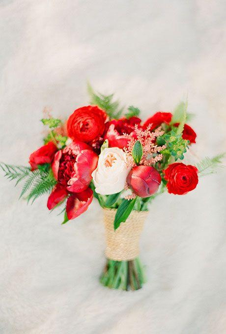 Ranunculus Flower Red