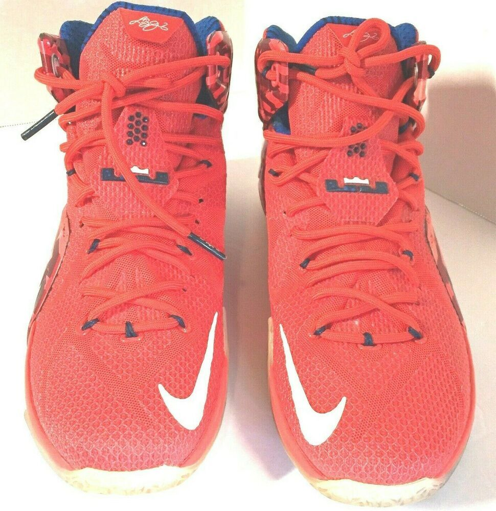 Nike LeBron XII 12 USA 4th of July Men's Basketball Sneakers