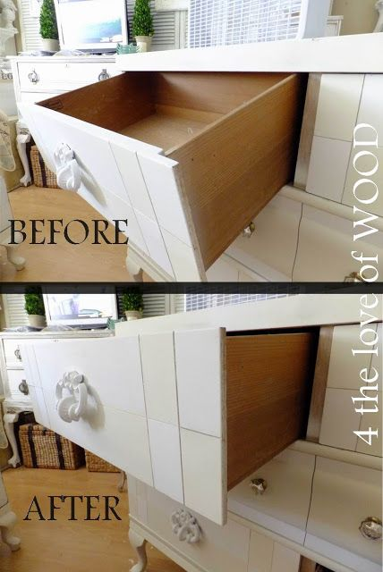 The Alice Dresser Reveal With A Fix It Tip And Tool Suggestion Dresser Drawers Old Dresser Drawers Drawer Repair