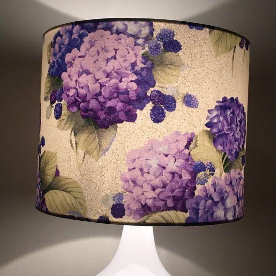 Hydrangea Lamp Shade Floral Lamp Shade Purple Floral Lamp Shade Hampton S Lamp Shade Hamptons Green Lamp Shade Painting Lamp Shades Lamp Shade Frame