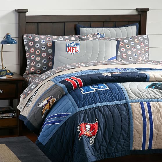 Get Into The Game With Our NFL© Quilt And Sham. Designed For True Football  Fanatics, Choose The Quilt And Sham That Features Appliqués Of Either The  ...
