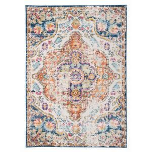 World Rug Gallery Vintage Distressed Bohemian 7 Ft 10 In X 10 Ft Multi Area Rug Mon836multi8x10 The Home Depot World Rug Gallery Eclectic Area Rug Area Rugs
