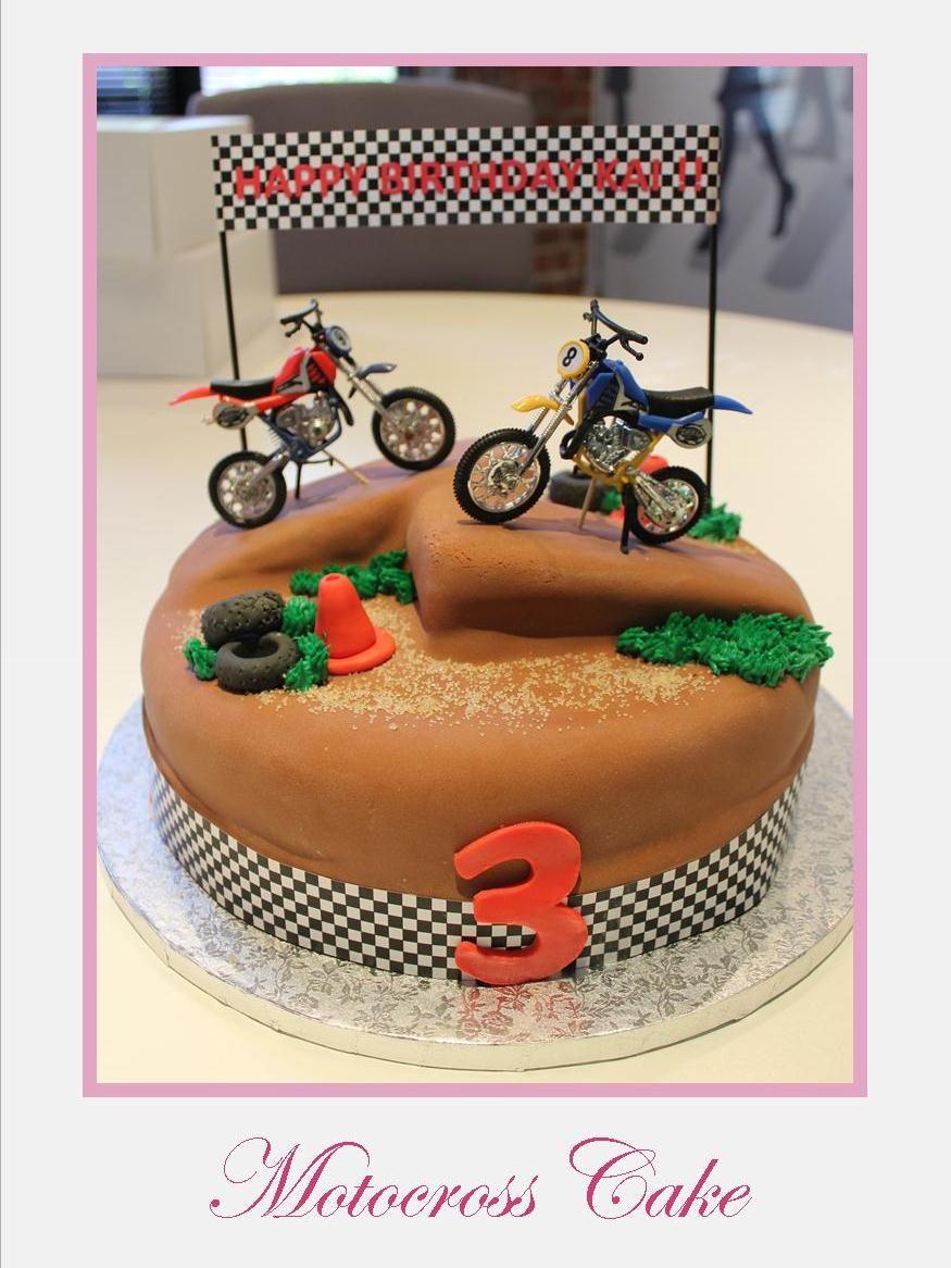 Motocross Cake MotoCrossSuperCross Cakes For My David