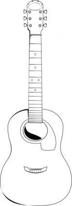 Acoustic Guitar Clip Art Guitar Outline Guitar Acoustic Guitar