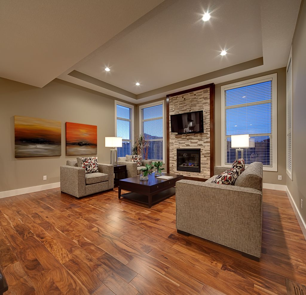 Kitchen Living Room Floor Plans Fireplace Windows
