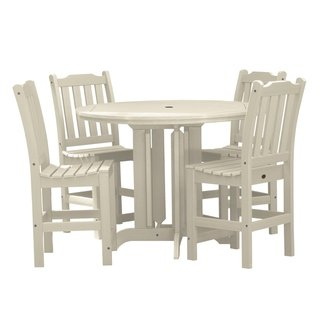 Highwood Patio Furniture.Lehigh 5 Piece Round Counter Height Dining Set Black Highwood