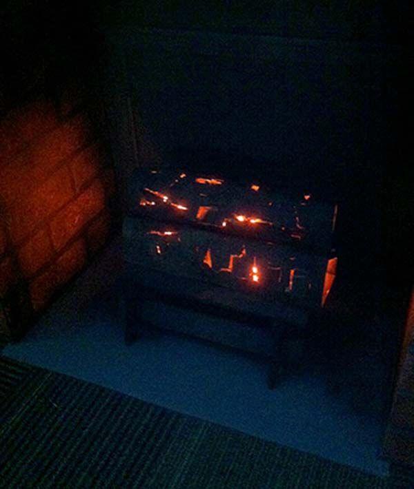 Surprisingly, It Looks Like A Real, Glowing Log! Cardboard