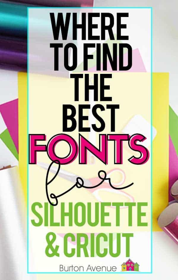 Where to find Fonts for Silhouette & Cricut Machines ...