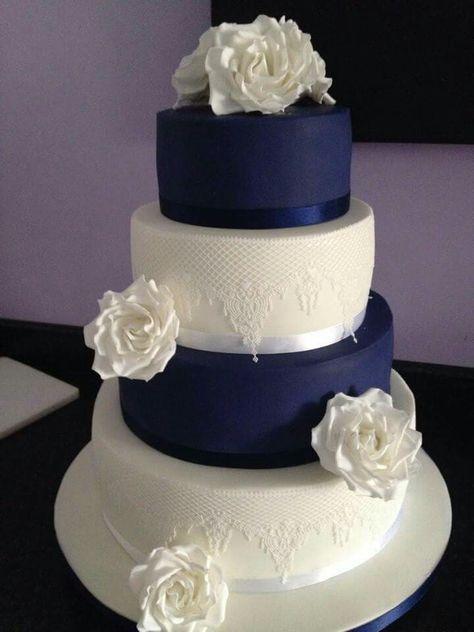 50 Ideas For Wedding Cakes Navy Blue Fun