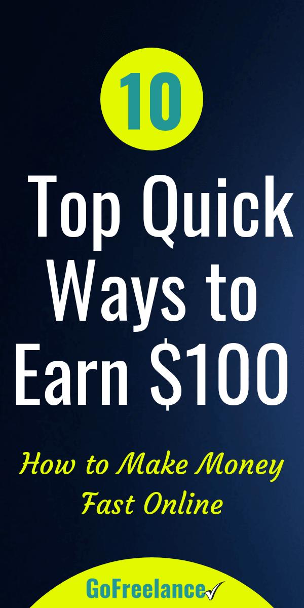 So verdienen Sie schnell online Geld: 10 schnelle Wege, um jetzt 100 US-Dollar zu verdienen   – Work from Home Jobs