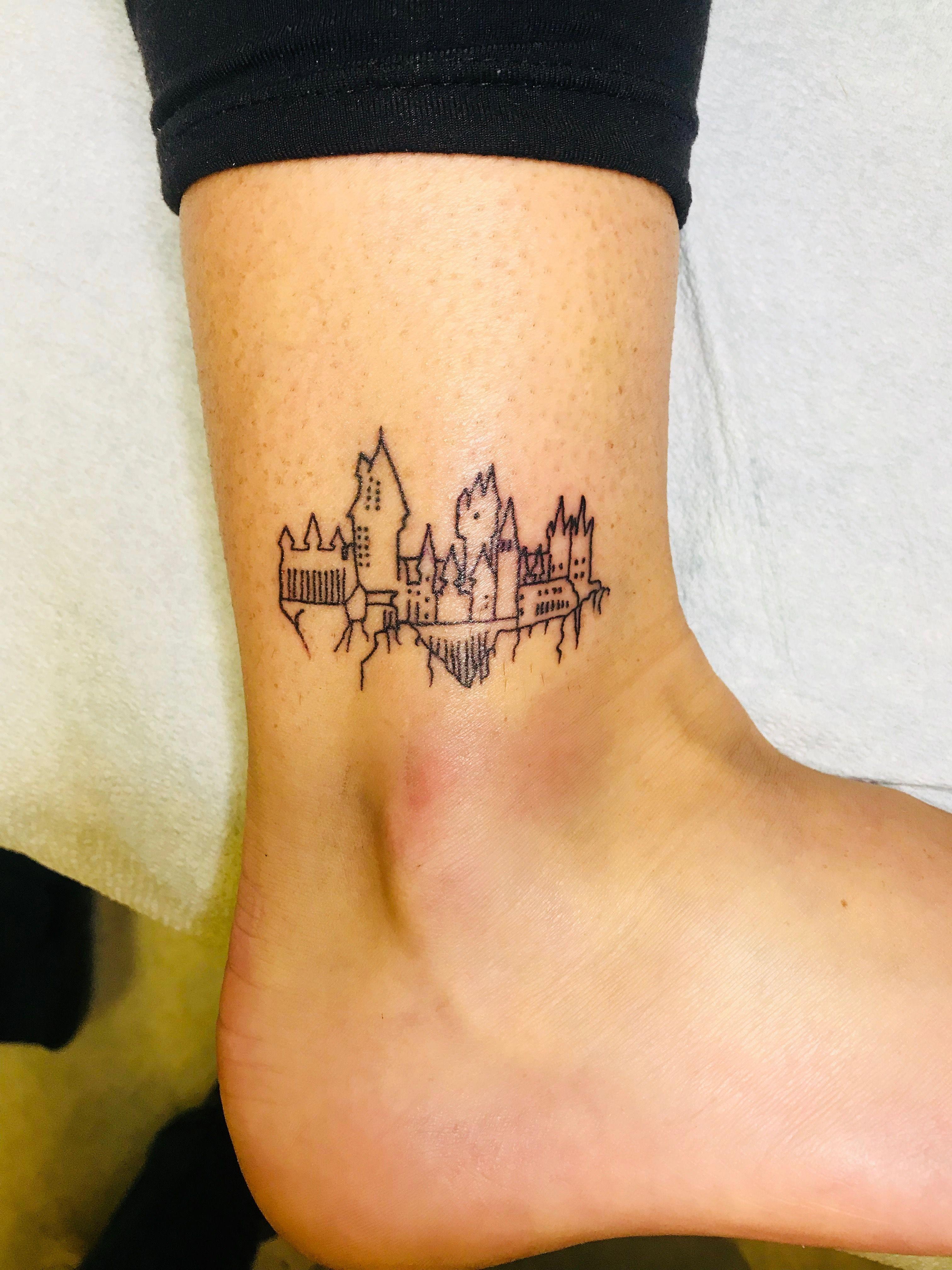 7d51c101b92ea My Hogwarts Castle tattoo! ⚡ #smalltattoossimple   Tattoos ...