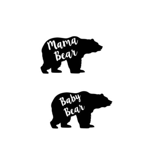 mama bear baby bear svg cutting file for cricut by dirtroadvinyls