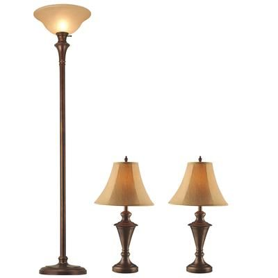 Table Lamps At Home Depot Glamorous Hampton Bay  Floor And Table Lamps Set  13733  Home Depot Canada Design Ideas