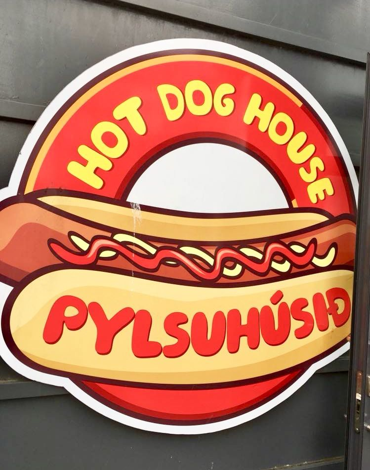 Pylsuhusid Hot Dog House Sign Reykjavik Iceland Dog House Hot
