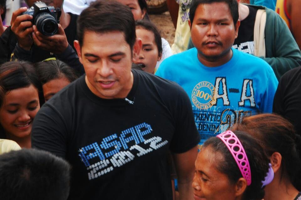 Gary Valenciano  He visited Montevista, Davao Oriental to make the