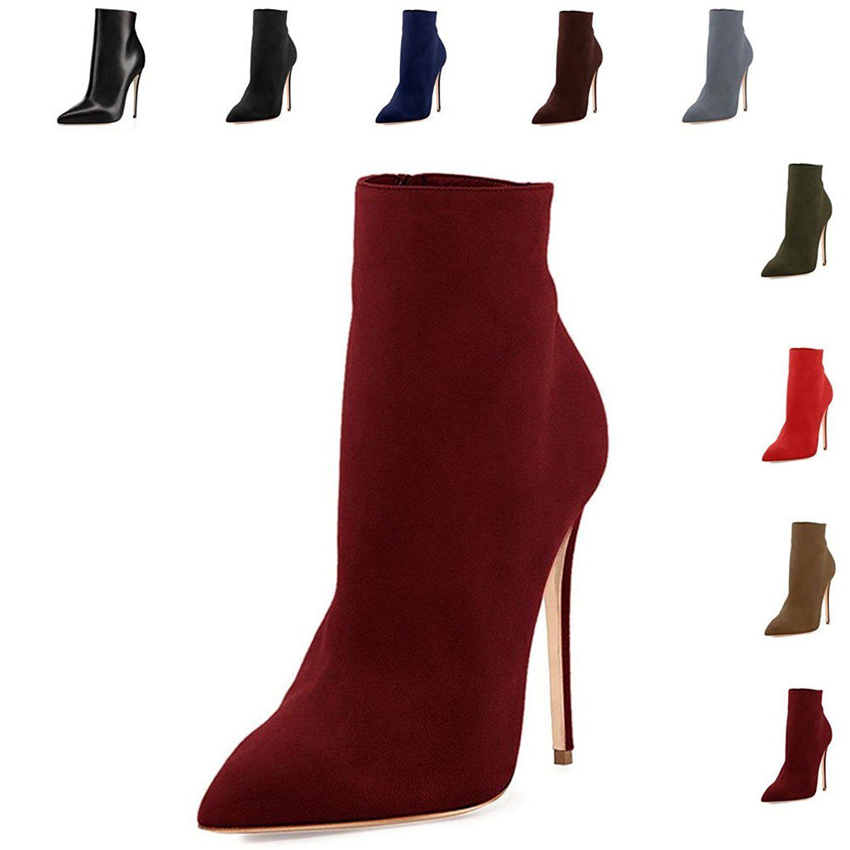 422cc01e992 VOCOSI Women's Closed Pointed Toe Booties Stilettos High Heels Dress ...