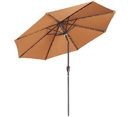 atleisure 9 light solar patio umbrella