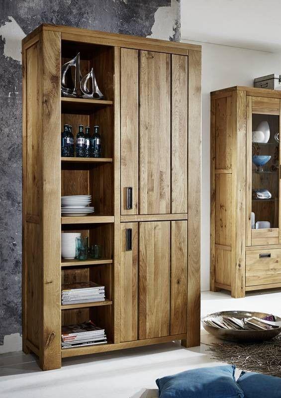 BOZEN Bücherregal #401 Wildeiche massiv natur geölt Jetzt - wohnzimmer wildeiche massiv