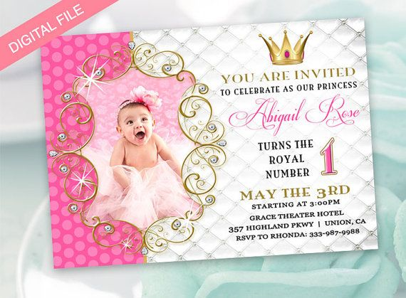 Princess Invitation Birthday By DigitalPrintsess On Etsy