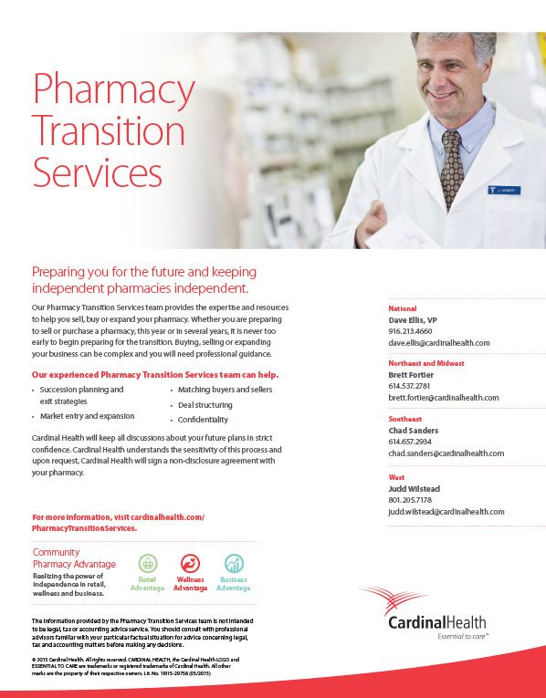 Cardinal Health Pharmacy Transition Services Preparing You For The