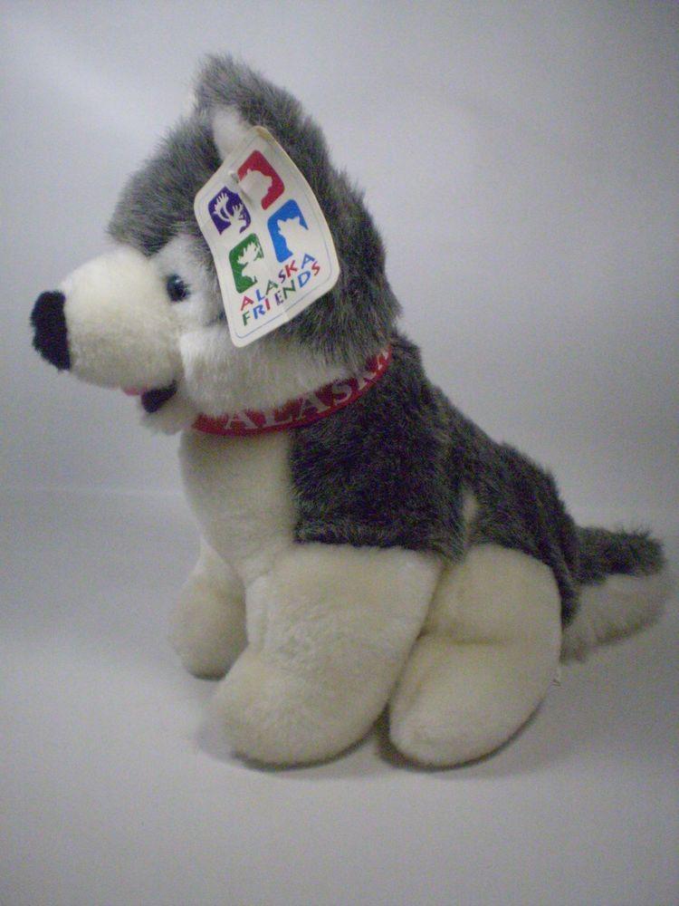 Artic Circle 10 Sitting Alaskan Malamute Stuffed Plush Puppy Dog