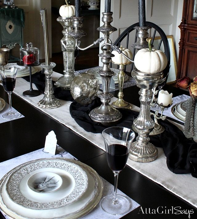 Unique and Creative Table Settings | Table settings, Halloween ...