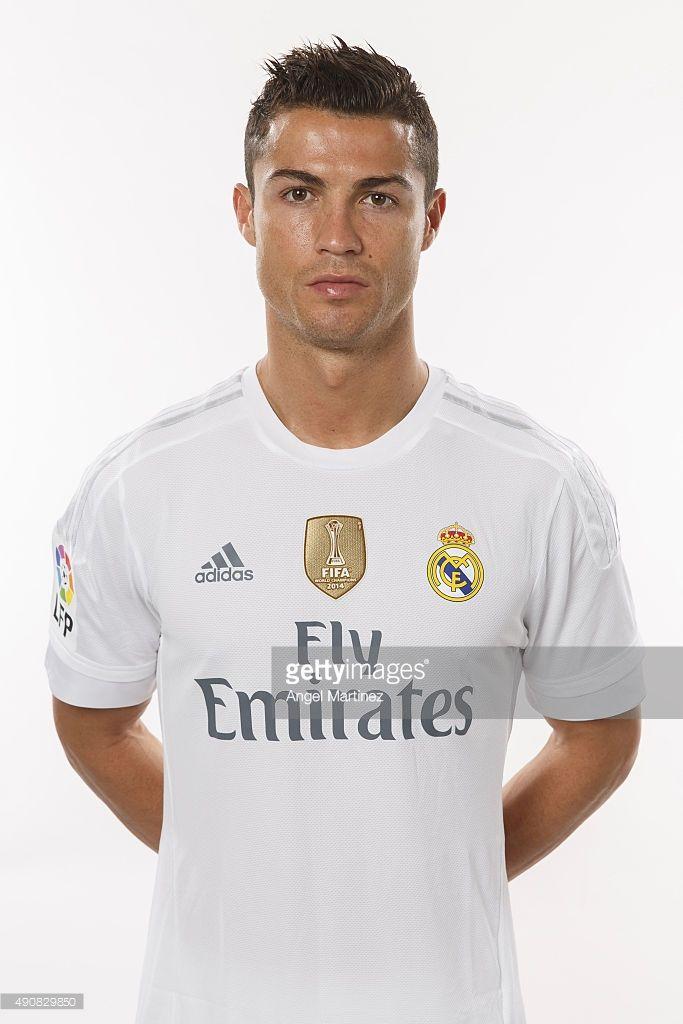 Cristiano Ronaldo Of Real Madrid Poses During The Official Portrait Cristiano Ronaldo Ronaldo Cristiano Ronaldo Lionel Messi