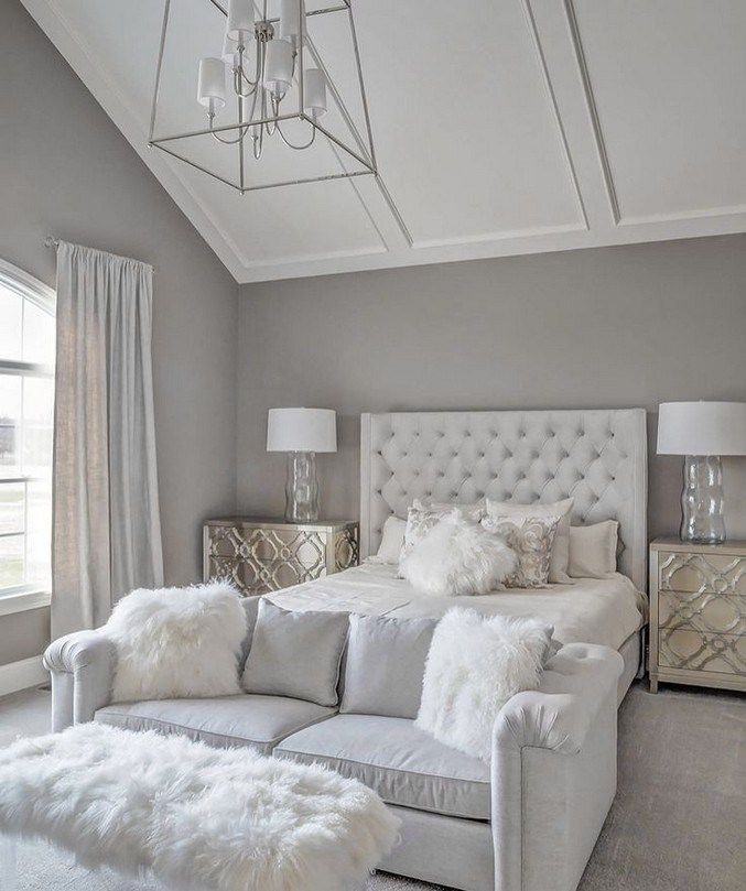 50 Budget Grey And White Bedroom Ideas 2020 Bedroomideas Bedroomdecoration Budgetdecoration In 2020 White Bedroom Decor Glam Bedroom Decor Master Bedrooms Decor