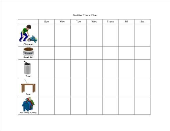Toddler Chore Chart Template , How to Make Good Schedule Using 5