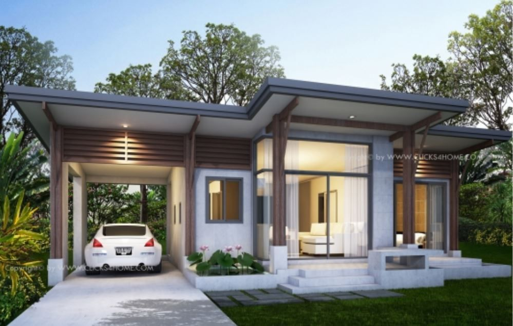 Home Design Plan 11x8m With One Bedroom Home Ideas House Design Home Design Plan Bungalow House Design