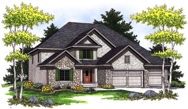 2401 sq ft. Traditional House Plan 73020 Elevation