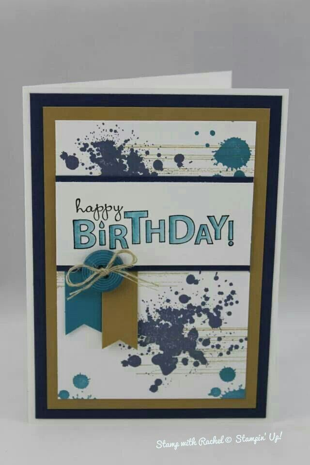 Stampin Up Gorgeous Grunge Male Birthday Card Love My Choice In Colours For This One