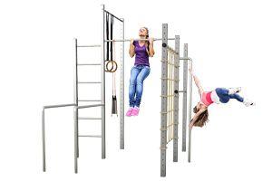 Fitness Station Einzigartige Kombination Von Lärchenholz Und V2a