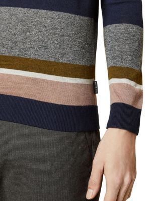 Photo of Ted Baker Host Color-Block Crewneck Sweater Men – Bloomingdale's