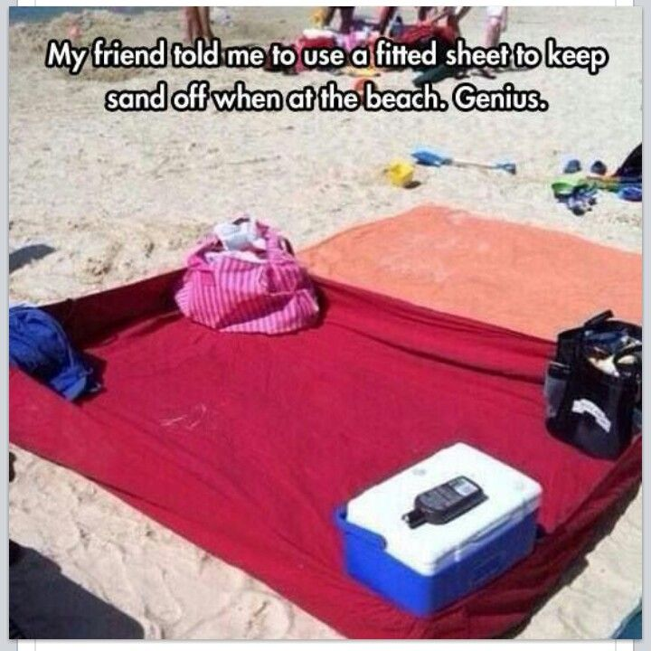 Use A Fitted Sheet To Make Sand Free Blanket At The Beach Pretty Clever Idea Just Need Find With High Enough Thread Count So