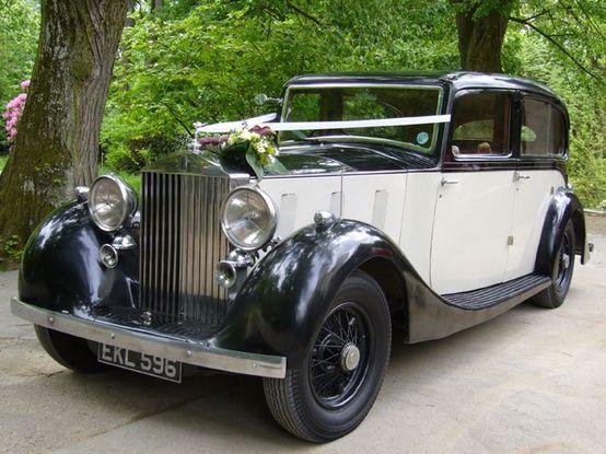 Bridal Car Was A Vintage Rolls Royce 1955 Silver Dawn In Two Tone