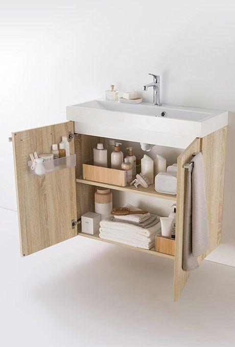 Meuble Petite Salle De Bain Delphy Studio Chene De Delpha Du Mobilier Compact Aux Couleurs Natu Small Shower Room Simple Bathroom Renovation Washbasin Design