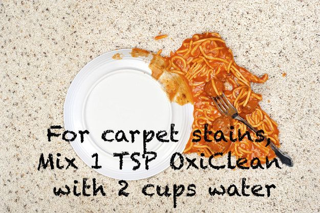 Attack set-in stains with OxiClean and an iron. #setinstains