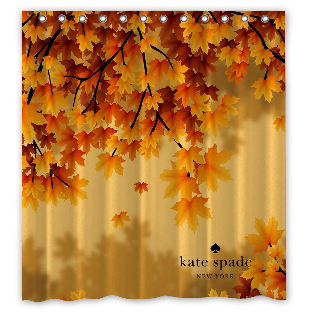 Autumn Leaves Custom Shower Curtain Size 60x72 And 66x72
