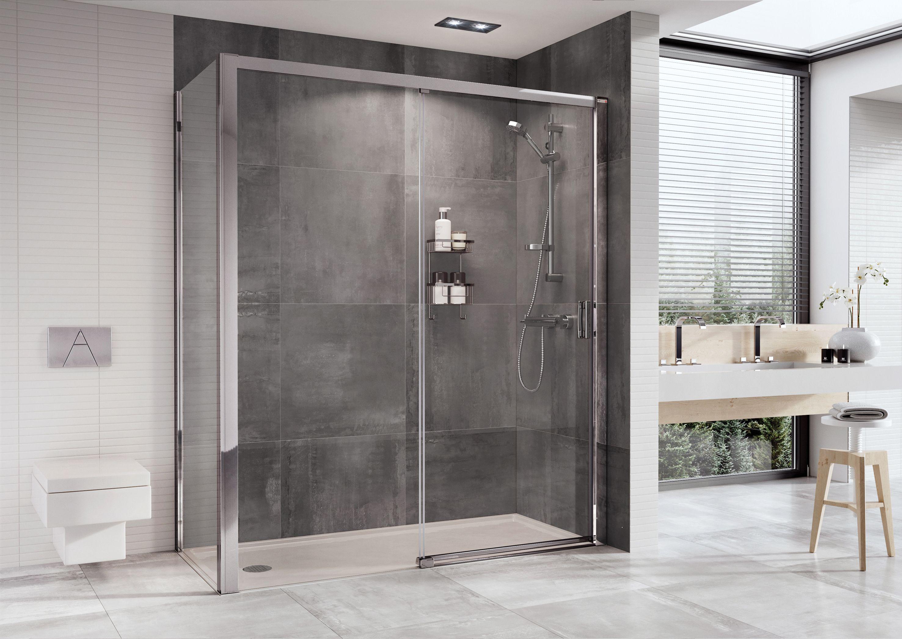 Embrace Level Access Sliding Door Shower Enclosure 8mm thick glass ...