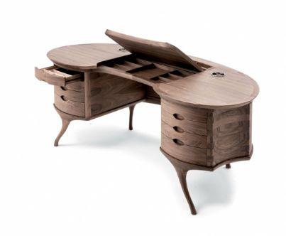 Contemporary desk wood bean big bean by roberto lazzeroni ceccotti collezioni amazing desk for Secretaire meuble habitat