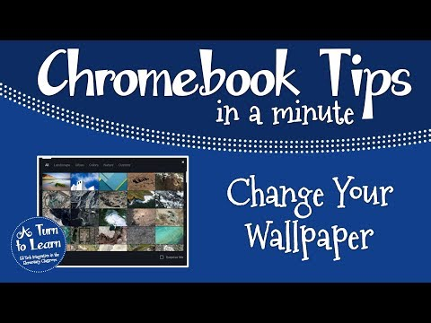 Chromebook Tips in a Minute Change Your Wallpaper