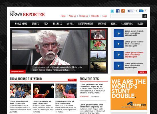 free WEB newspaper layout template - חיפוש ב-Google | Online ...