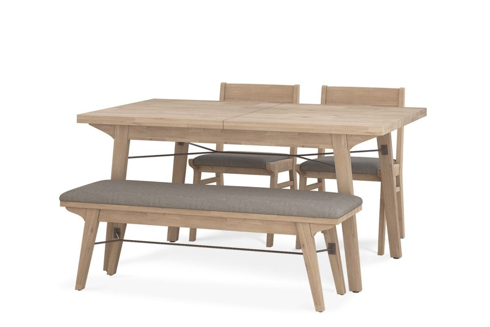 Miles Extendable Dining Table With Bench And 2 Chairs Dining