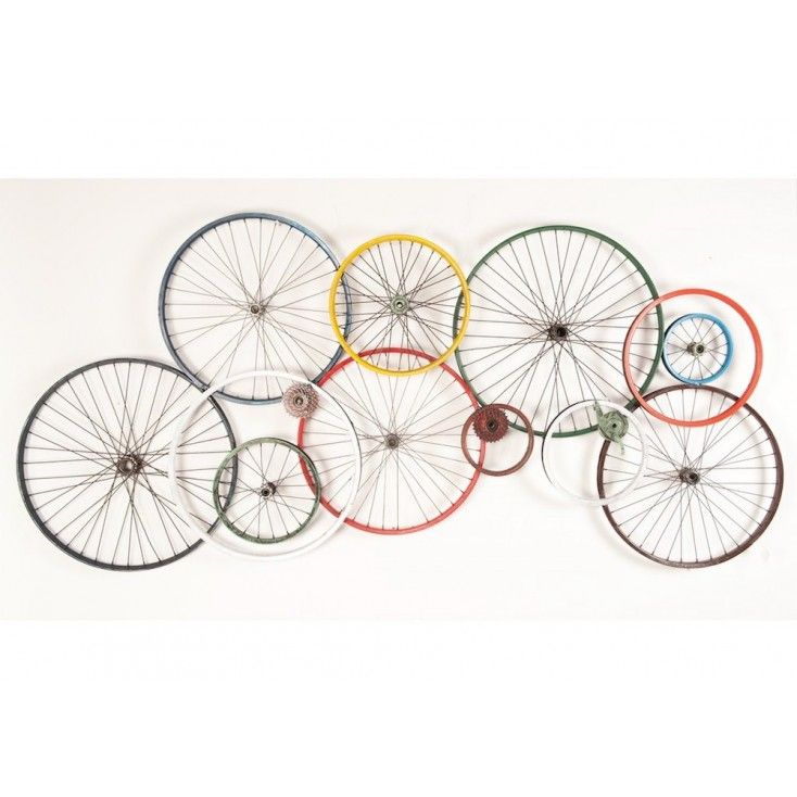 Bicycle Wall Art Wheels Recycled On Walls Urban Reclaimed Metal Bicycle Wall Art Bicycle Decor Bicycle Art Recycled